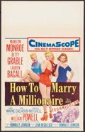 "Movie Posters:Comedy, How to Marry a Millionaire (20th Century Fox, 1953). Window Card(14"" X 22""). Comedy.. ..."