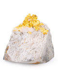 Minerals:Miniature, Gold in Quartz. Mockingbird Mine (Talc & Lacy claim).Colorado area, Whitlock District. Bagby-Mariposa-MountBulli...