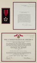 Military & Patriotic:WWII, WWII Legion of Merit Awarded to Russian Red Army LT. Colonel Ivan F. Andrianov With Citation Signed by President Harry S. Trum...