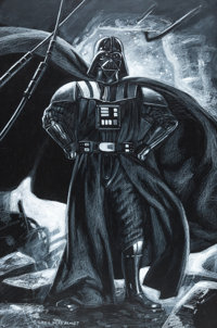 Greg Hildebrandt - Darth Vader Illustration Original Art (2016)
