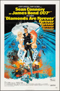 "Movie Posters:James Bond, Diamonds are Forever & Other Lot (United Artists, 1971). One Sheet (27"" X 41"") & Cut Pressbook (8 Pages, 11"" X 17"") Robert M... (Total: 2 Items)"