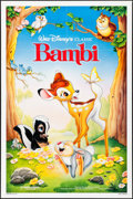 "Movie Posters:Animation, Bambi (Buena Vista, R-1988). One Sheet (27"" X 41"") SS. Animation.. ..."