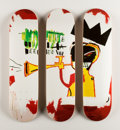 Prints & Multiples, After Jean-Michel Basquiat X The Skateroom. Trumpet, triptych (Open Edition), 2016. Screenprints in colors on skate deck... (Total: 3 Items)