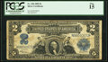 Large Size:Silver Certificates, Fr. 258 $2 1899 Silver Certificate PCGS Fine 15....