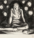 Fine Art - Work on Paper, Rockwell Kent (American, 1882-1971). Candlelight. Ink onpaper. 7-1/2 x 6-3/4 inches (19.1 x 17.1 cm) (sight). Stamped l...