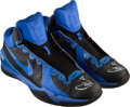 Basketball Collectibles:Others, 2012 Stephen Curry Game Worn & Signed Golden State WarriorsSneakers....