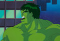 Animation Art:Production Cel, The Incredible Hulk Production Cel and Painted Background(Marvel Studios, 1996).... (Total: 2 Items)
