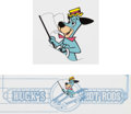 Animation Art:Presentation Cel, Huckleberry Hound Consumer Products/Publicity Cel Group of 2(Hanna-Barbera, c. 1980s-90s).... (Total: 2 Items)