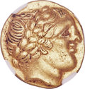 Ancients: WESTERN GAUL. Gironde Region. Ca. late 3rd-early 2nd century BC. AV stater (20mm, 8.46 gm, 9h). NGC A...