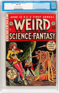 Golden Age (1938-1955):Science Fiction, Weird Science-Fantasy Annual #1 (EC, 1952) CGC VF+ 8.5 Light tan tooff-white pages....