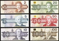 Canadian Currency, BC- Bird Series Denomination Set 1986-1991 Six Examples.. ...(Total: 6 notes)
