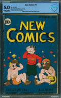 Golden Age (1938-1955):Humor, New Comics #9 - CBCS CERTIFIED (DC, 1936) CGC VG/FN 5.0 Cream to off-white pages.