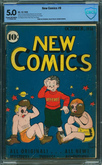 New Comics #9 - CBCS CERTIFIED (DC, 1936) CGC VG/FN 5.0 Cream to off-white pages