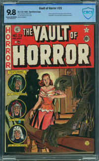 Vault of Horror #23 - CBCS CERTIFIED (EC, 1952) CGC NM/MT 9.8 Cream to off-white pages
