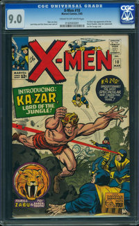 X-Men #10 (Marvel, 1965) CGC VF/NM 9.0 CREAM TO OFF-WHITE pages