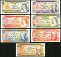 Canadian Currency, BC- Seven Examples from the 1969-75 and 1979 Series.. ... (Total: 7notes)