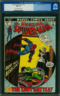 The Amazing Spider-Man #115 (Marvel, 1972) CGC NM- 9.2 CREAM TO OFF-WHITE pages