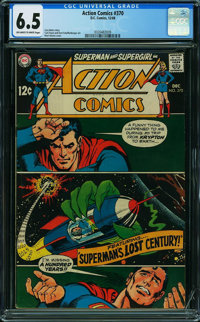 Action Comics #370 (DC, 1968) CGC FN+ 6.5 OFF-WHITE TO WHITE pages