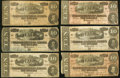 Confederate Notes, T68 $10 1864. Six Examples.. ... (Total: 6 notes)