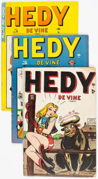 Hedy Devine Comics Group of 5 (Atlas, 1948-51) Condition: Average VG/FN.... (Total: 5 Comic Books)