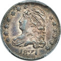 Bust Dimes, 1827 10C Pointed Top 1, JR-11, R.2, MS63 PCGS Secure....