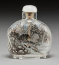 Asian:Chinese, A Chinese Reverse Painted Glass Snuff Bottle. 2-3/4 inches high(7.0 cm). ...