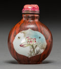 Asian:Chinese, A Chinese Enameled Porcelain Snuff Bottle. 2-1/8 inches high (5.4cm). ...