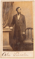 Photography:CDVs, Abraham Lincoln: Carte-de-Visite O-69....