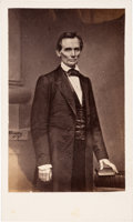 "Photography:CDVs, Abraham Lincoln: ""Cooper Union"" Carte-de-Visite O-17...."
