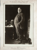 Political:Presidential Relics, William Howard Taft: Photograph Housed in Presentation Tiffany Silver Frame from the American Golf Association. ...