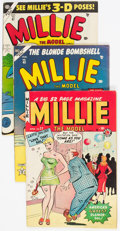 Golden Age (1938-1955):Romance, Millie the Model Group of 9 (Atlas/Marvel, 1950-58) Condition:Average VG+.... (Total: 9 Comic Books)