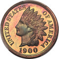 Proof Indian Cents, 1900 1C PR66+ Red and Brown PCGS Secure. CAC....