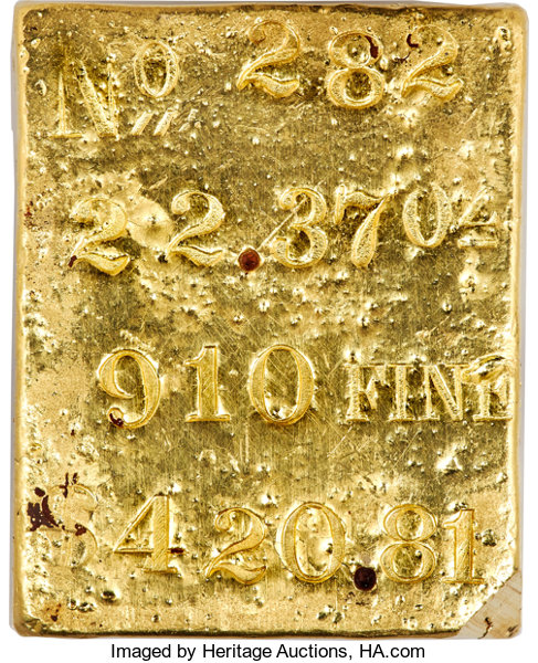 Another ingot from the wreck sold for $8m in 2001