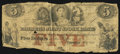 Canadian Currency, Toronto, UC- The Farmer's Joint Stock Bank $5 Feb. 1, 1849 CH. #280-14-04-08. ...