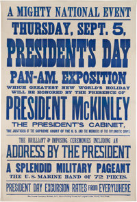 William McKinley: Graphic and Rare Pan American Exposition Broadside
