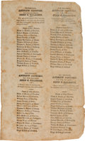 Political:Small Paper (pre-1896), Andrew Jackson: Uncut Sheet of Four Ohio Ballots From 1828....