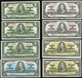 Canadian Currency, BC- 1937 Series Notes $1-$20 Eight Examples.. ... (Total: 8 notes)