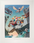 Memorabilia:Disney, Carl Barks Leaving Their Cares Behind Signed Limited EditionLithograph Print #233/350 (Another Rainbow, 1995)....
