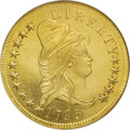 Early Eagles: , 1795 $10 13 Leaves MS64 NGC. Breen 1-A, Breen-6830, Taraszka-1,Bass-3169, BD-1, High R.3. The ten dollar gold pieces, give...