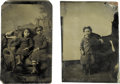 Photography:Tintypes, Pair of Tintypes Featuring African-American Children. Tworemarkably clear tintypes with portraits of seated children.Inclu... (Total: 2 )