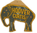 """Political:3D & Other Display (1896-present), Hoover-Curtis License Plate Attachment, 8"""" x 6.5"""", 1928. Thesurnames of Republican candidates Herbert Hoover and Charles Cu..."""