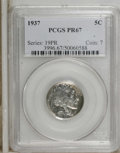 Proof Buffalo Nickels: , 1937 5C PR67 PCGS. PCGS Population (363/11). NGC Census: (284/32).Mintage: 5,769. Numismedia Wsl. Price: $2,400. (#3996)...