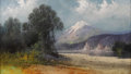 Fine Art - Painting, American:Contemporary   (1950 to present)  , TOM LOVELL (American 1909-1997). Mountain Landscape. Pastel.13-1/4 x 23-1/2 inches (33.7 x 59.7 cm). Signed lower left,...