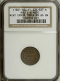 Civil War Patriotics: , Undated Federal Union/Army and Navy MS66 Brown NGC. Fuld-225/327a,R.3. A beautiful golden-brown token that has satin luster...