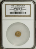 """Alaska Tokens: , 1900 Octagonal 1/2 Pinch MS62 NGC. Gould-Bressett 145. From Hart's""""Coins of the West"""" series. This yellow-gold piece is att..."""