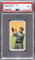 Baseball Cards:Singles (Pre-1930), 1909-11 T206 Old Mill Harry Bay PSA Mint 9 - Pop One, None Higher! ...