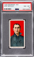 Baseball Cards:Singles (Pre-1930), 1909-11 T206 Piedmont 350 Jake Beckley PSA NM-MT 8 - Pop One, One Higher! ...