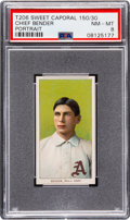 Baseball Cards:Singles (Pre-1930), 1909-11 T206 Sweet Caporal 150/30 Chief Bender (Portrait) PSA NM-MT8. ...