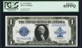 Large Size:Silver Certificates, Fr. 237 $1 1923 Silver Certificate PCGS Gem New 65PPQ.. ...