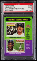 Baseball Cards:Singles (1960-1969), 1975 Topps Mantle & Newcombe - 1956 MVP's #194 PSA Mint 9....